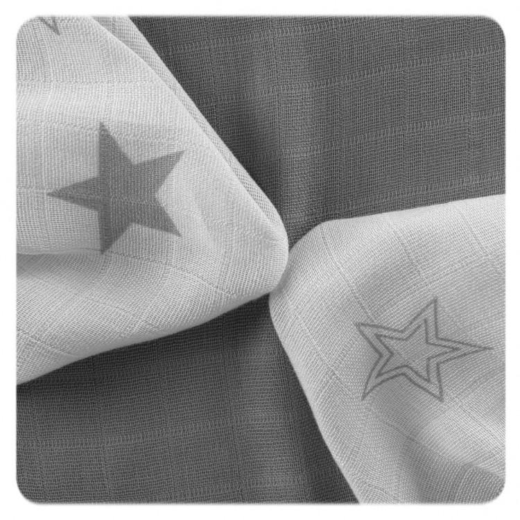 Bambusové ubrousky XKKO BMB Silver Stars MIX 30x30cm