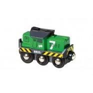 Elektrická lokomotíva zelená