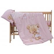 Komplet poszewek na pościel do łóżeczka Scarlett Grisi - różowy