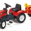 Šlapací Traktor Ranch Trac + vlek+lopatka+hrabičky