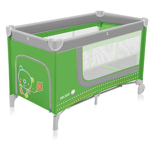 Baby Design Cestovní postýlka Holiday 04 - zelená