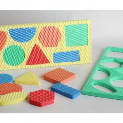 Penové geometrické tvary v tabuľke - veľká sada