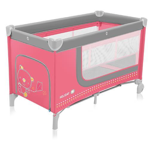 Baby Design Cestovní postýlka Holiday 02 - růžová