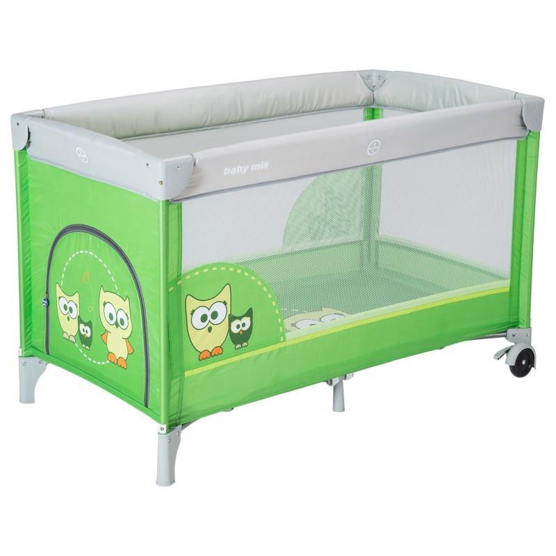 Babymix Cestovní postýlka HR-8052-171 - zelená