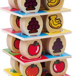 Dřevěné hračky - dřevěné hry - Ovocná věž