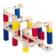 Dřevěné hračky - Kuličková dráha