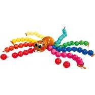 Drevená hračka - prevliekanie - Navliekacie pavúk
