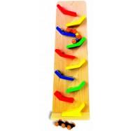 Dřevěné hračky - Kaskádová věž klap klap