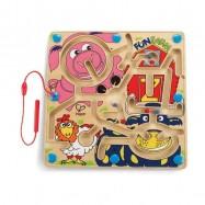 HAPE dřevěné hračky - dřevěný magnetický labyrint farma