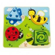 HAPE dřevěné hračky - dřevěné nasazovací puzzle zvířátka