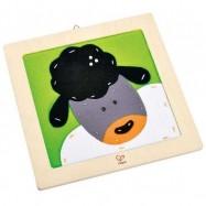HAPE dřevěné hračky - dřevěná vyšívací ovečka