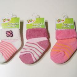 Dojčenské ponožky KIKKO TYP 39 12-18 mes. 3.páry