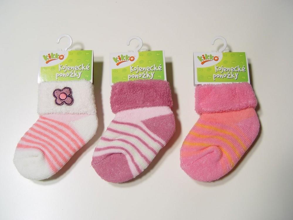 Kojenecké ponožky KIKKO TYP 39 12-18 měs. 3páry