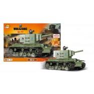 Stavebnice World of Tanks tank KV2, 500 k, 1 f