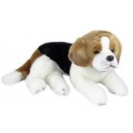 Plyšový pes bígl ležící, 38 cm