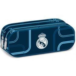 Penál Real Madrid oválný 2zip tmavě modrý