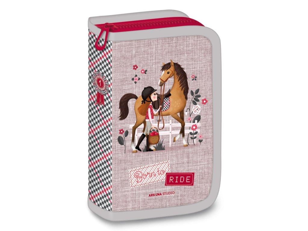 Penál Koně Born to ride plněný