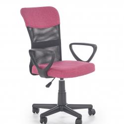 Dětská otočná židle Halmar TIMMY růžová-černá