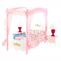 Łóżko z baldachimem dla lalek Gloria