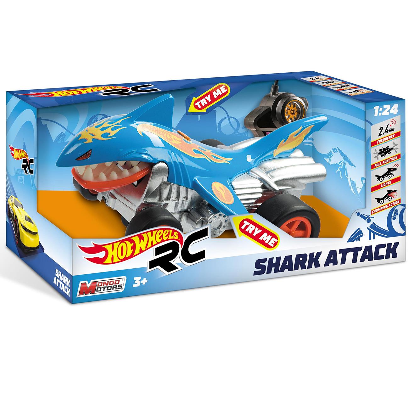 RC auto žralok Hot Wheels 1:24