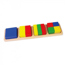 Drewniane kształty matematyczne