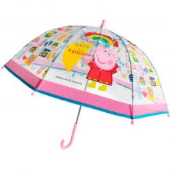 Dáždnik Prasiatko Peppa priehľadný