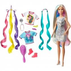Lalka Barbie z czarodziejskimi włosami