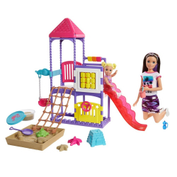 Barbie chůva na hřišti herní set