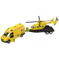 Zestaw pogotowia + helikopter ze światłem i dźwiękiem