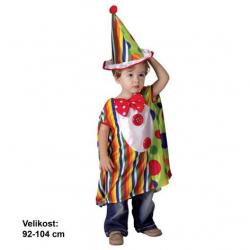 Sukienka karnawałowa - Mały klaun, 92-104 cm