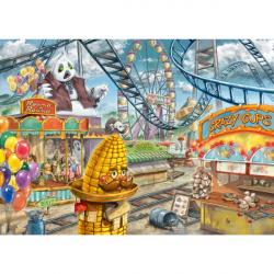 Wyjdź Puzzle dla dzieci: park rozrywki 368 sztuk