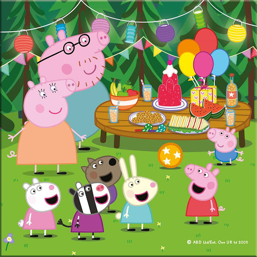 PEPPA PIG ON HOLIDAY Puzzle 3x55 NOWOŚĆ