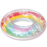 Nafukovacie dúhový kruh s trblietkami