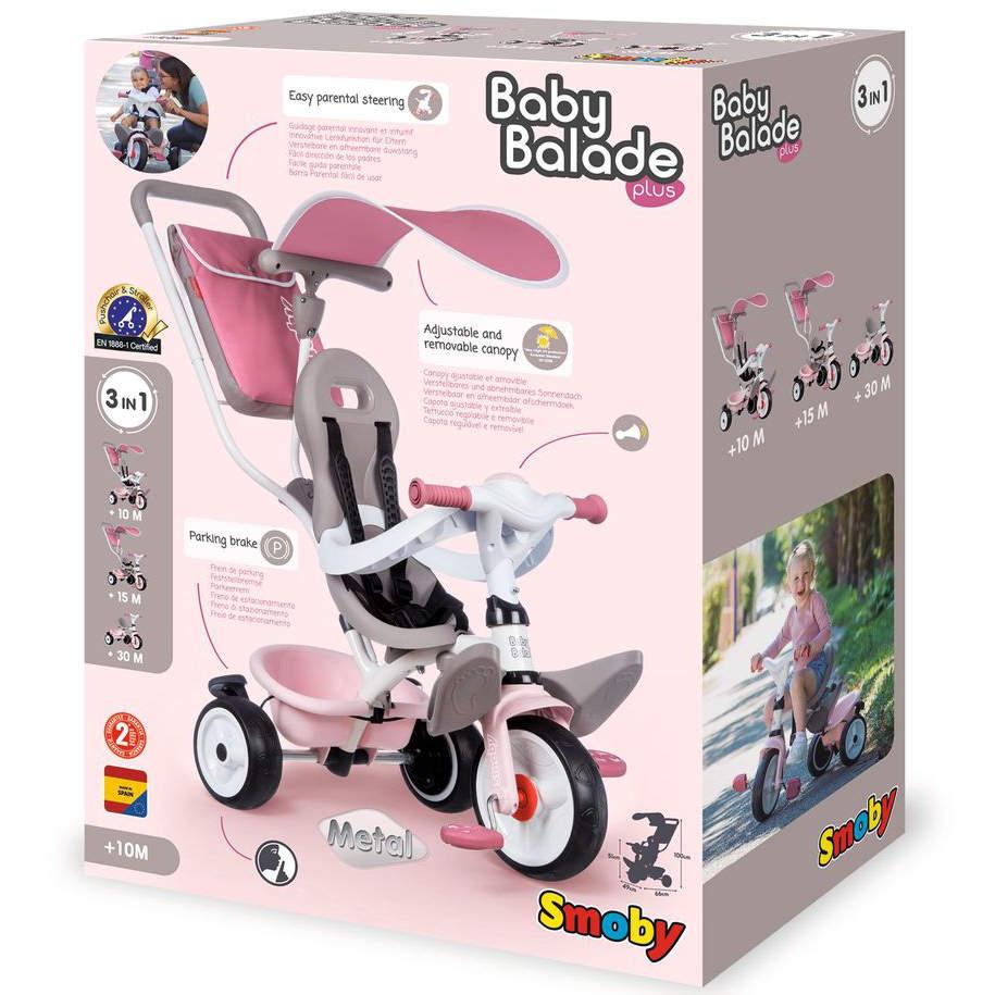 Tříkolka Baby Balade Plus růžová
