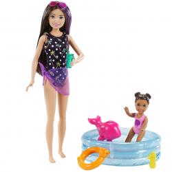 Barbie chůva herní set s bazénkem