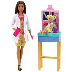 Barbie povolání herní set dětská doktorka bruneta