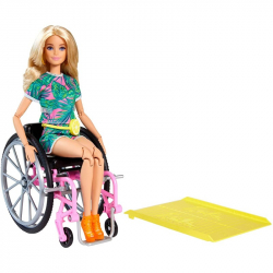 Barbie modelka na invalidním vozíku blondýnka