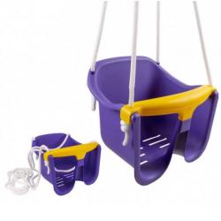 Hojdačka Baby fialová plast 33x30x28cm nosnosť 25kg v sieťke 12m +