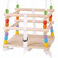Bigjigs Toys drevená korálková hojdačka