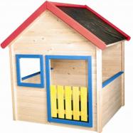 Dětský zahradní domeček s barevným lemováním