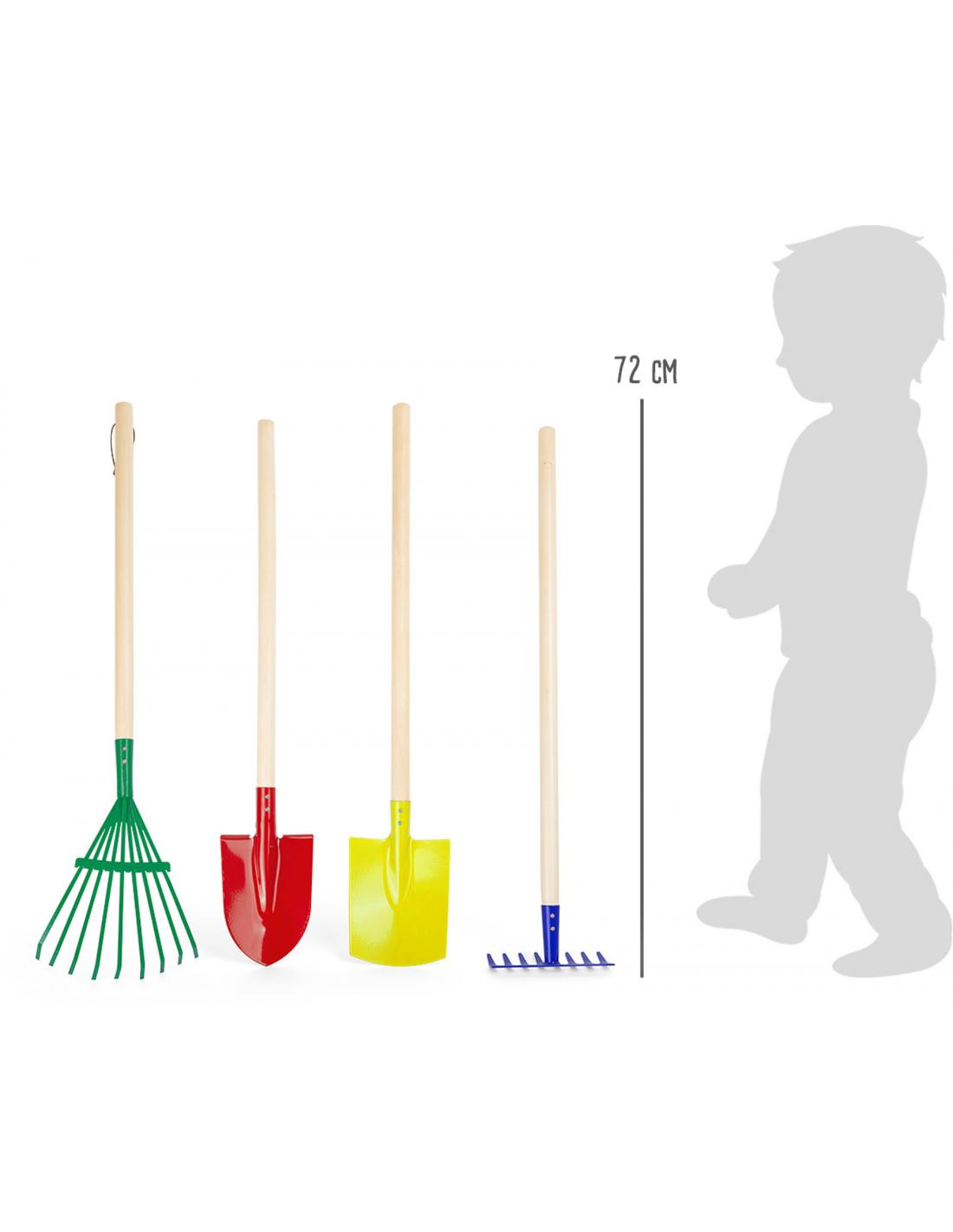 Set farebného záhradného náradia