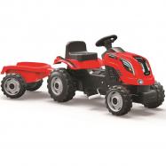 Traktor Farmer XL z przyczepą Czerwony