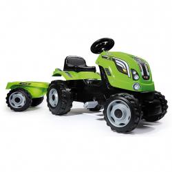 Smoby Šliapací traktor Farmer XXL zelený s vozíkom