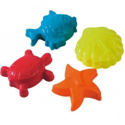 Bábovky 12 cm morská zvieratka - 4 ks