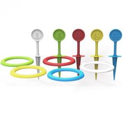 Hra hádzací krúžky a kolíky plast 22cm v sáčku