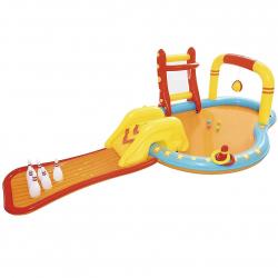 Nafukovací bazénik so šmýkačkou a kolkami, 4,53m x 2,13m x 1,17m
