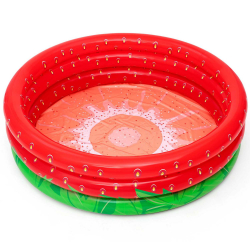 Bazén nafukovací 160x38cm jahoda 3komory 24m + 390L v krabičke