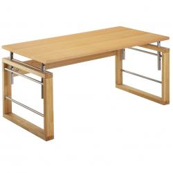 Rastúci stôl Haba Matti so závesným regálom prírodný