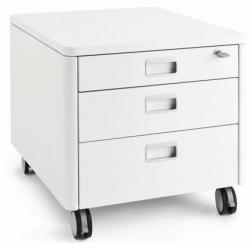 Pojízdný kontejner Cubic Moll - barva bílá