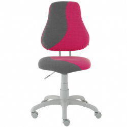Rosnące krzesełko Alba Fuxo S Line Melino różowo-szare